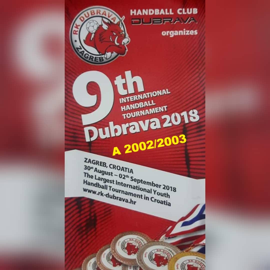 "9.TURNIR ""DUBRAVA 2018″ : Raspored/rezultati A 02/03"