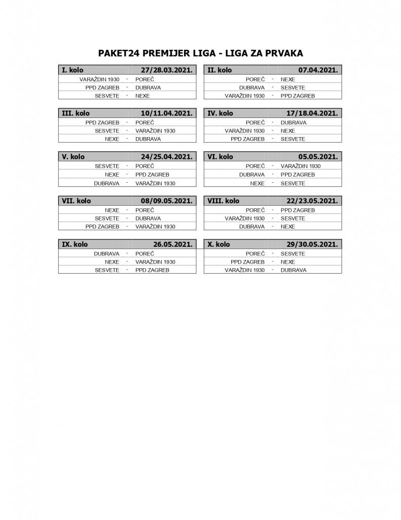 Raspored utakmica Paket24 Premijer liga - Liga za prvaka_page-0001